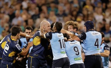 A fight broke out in the 57th minute of the Brumbies v Waratahs match
