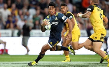 Malakai Fekitoa in action earlier this year for the Highlanders