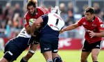 Sam Whitelock on the charge for the Crusaders against the Lions
