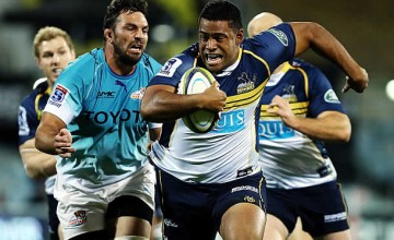 Scott Sio on the charge for the Brumbies in 2015
