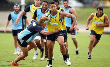 Israel Folau is enjoying life at centre