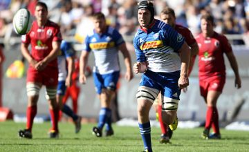 Pieter-Steph du Toit chases the ball for the Stormers