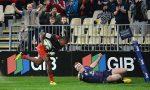 Jone Macilai of the Crusaders runs to score a try