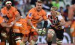 Paul Schoeman of the Cheetahs looks to pass