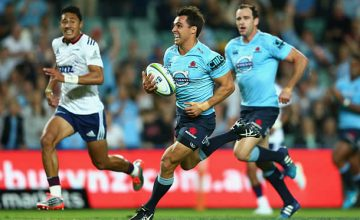 Nick Phipps on the run for the Waratahs against the Blues