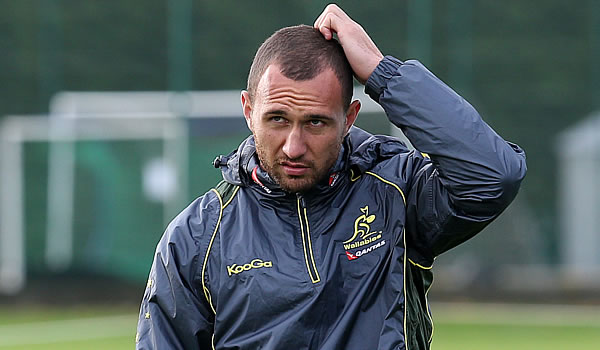Quade Cooper starts for Australia