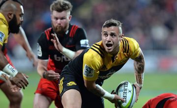 TJ Perenara scored a crucial try before half time.