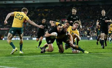 Israel Dagg scores one of his two tries