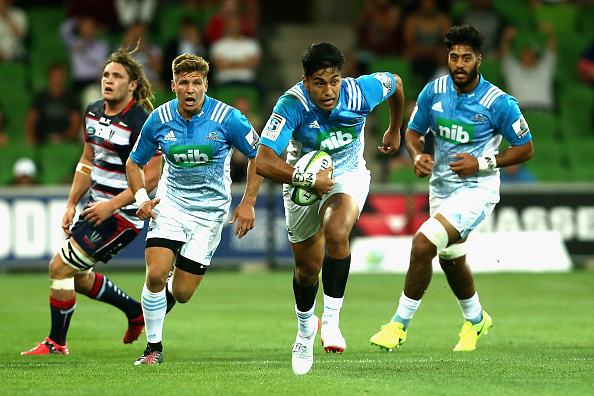 Rieko Ioane on his way to his hat-trick in Melbourne