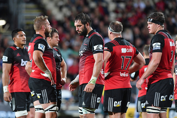 Crusaders (C) and his Super Rugby teammates