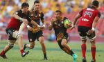 Tim Nanai-Williams of the Chiefs runs the ball