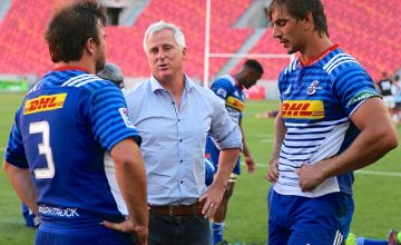 Robbie Fleck, Head Coach, and Eben Etzebeth (captain) of DHL Stormers