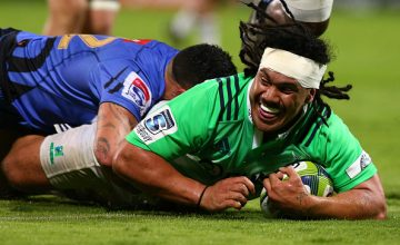 Aki Seuili scored a brace of Super Rugby tries for the Highlanders