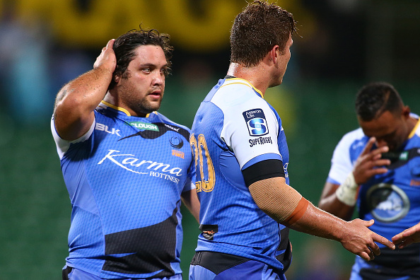 Anaru Rangi of the Force looks on after a Super Rugby match