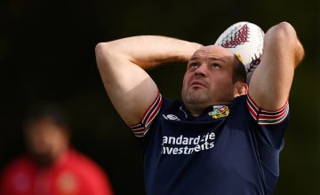 Rory Best during the British and Irish Lions captain's run