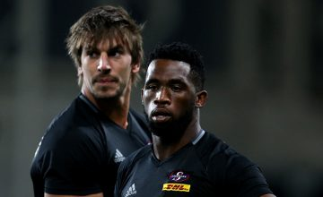 Siya Kolisi (R) and Eben Etzebeth of the Stormers