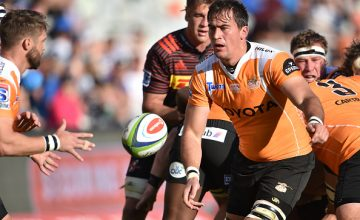 Henco Venter of the Toyota Cheetahs during the Super Rugby match