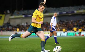 Bernard Foley of the Wallabies will play his 50th Test this weekend