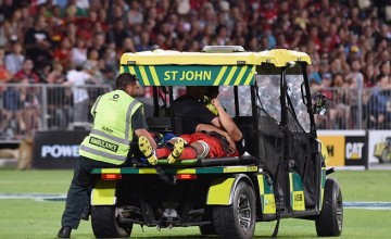 Reed Prinsep is stretchered off in Christchurch