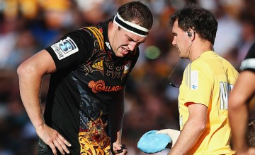 Brodie Retallick injured his ribs playing against the Lions