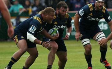 Liam Coltman (centre) will win his 50th Super Rugby cap