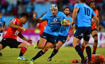 Lappies Labuschagne scored one of the Bulls seven tries