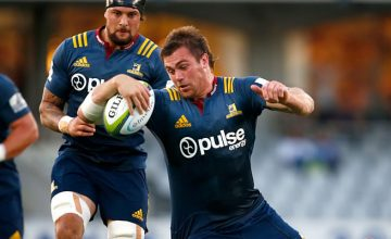 Liam Squire starts for the Highlanders in Canberra