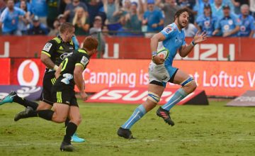 Lood de Jager of the Bulls during the Super Rugby match between Bulls and Hurricanes at Loftus Versfeld Stadium